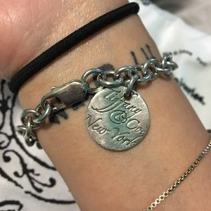 Jewelry - Tiffany & Co. Notes Script Circle Charm Bracelet